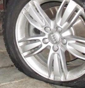 Reifenbeschädigung